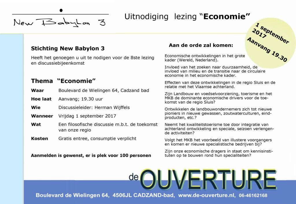 NB3 1 september 2017 lezing Economie